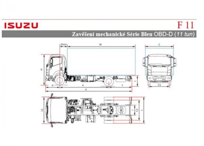 Katalóg Isuzu F11 Mechanické odpružení
